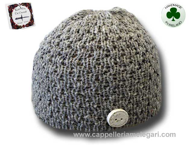 Beanie natural Irish Donegal yarn hat 04