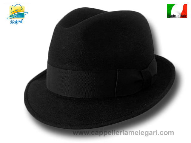 Melegari Trilby Blues Brothers Hut Schwarz