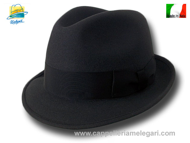 Cappello classico Melegari Trilby Blues Brothers hat Antracite