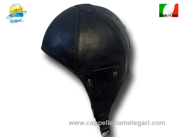 Nuvolari real leather hat