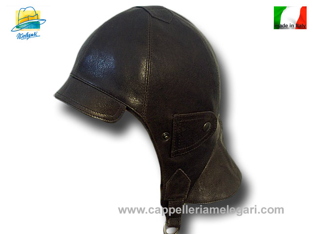 Nuvolari real antique leather hat