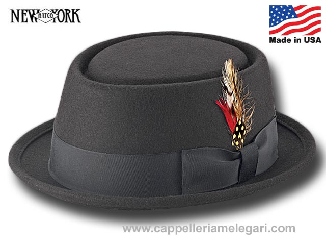 New York Hat Co. Porkpie Hat Be Bop  Made in U