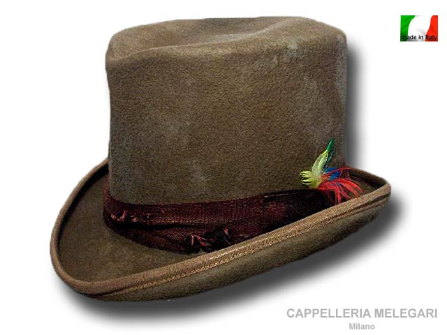 Dandy Western Aged top hat Kaki