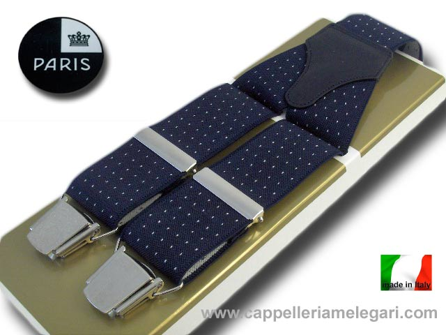 Paris Braces wide men's fantasy dots Blue