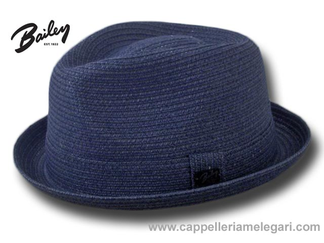 Chapeau Bailey Billy Trilby Jazz Bleu marine