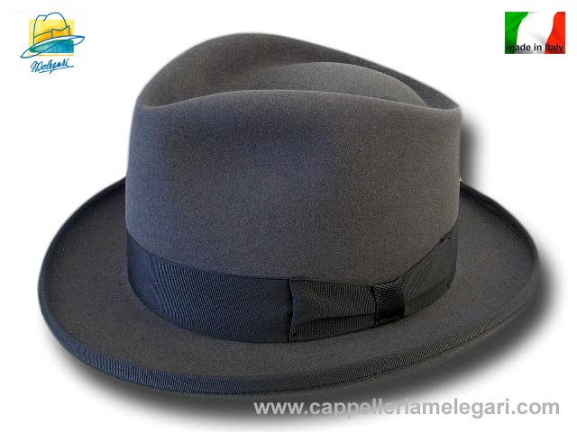 Cappello a lobbia open crown homburg godfather