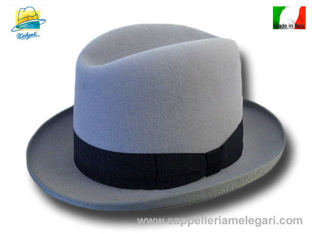 Cappello a lobbia homburg godfather hat grigio
