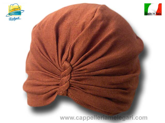 Cappello donna turbante cotone estivo Ruggine