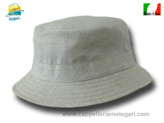 Fisherman pure linen rapper summer hat Beige