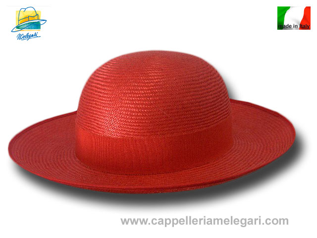Natural red Straw Saturn priest hat hand made