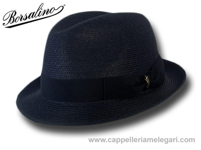 Borsalino 141078 trilby jazz hat hemp rollable