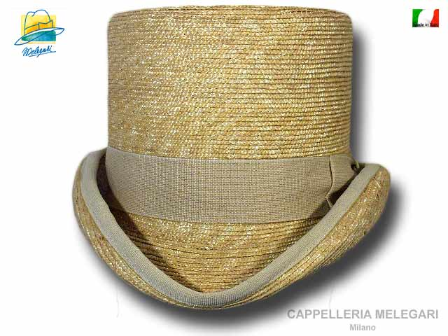 Western natural straw Top Hat