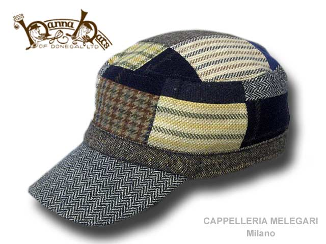 Berretto irlandese Hanna Hats patchwork army cap