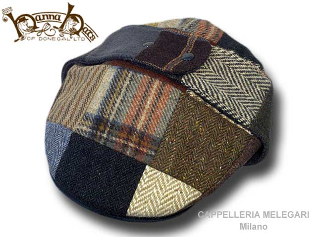 Hanna Hats Berretto irlandese Lugg Patchwork B
