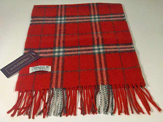 Lambswool Irish tartan scarf J.Hanly 13
