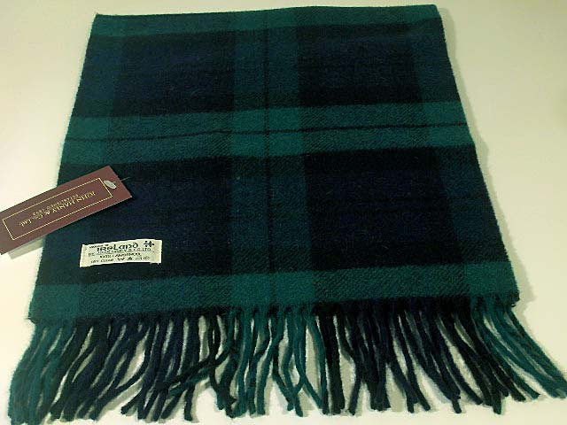 John Hanly Lambswool Irish tartan scarf 6