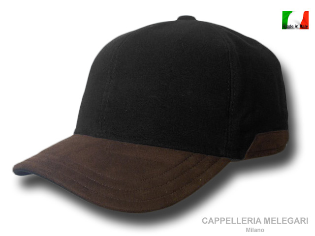 Moleskin/leather Morgan cap with earflaps