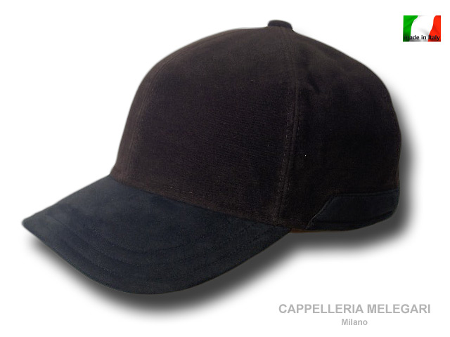 Moleskin Morgan baseball cap with earflaps Bro