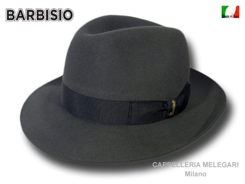 Barbisio Silver Fedora Hand made Hut