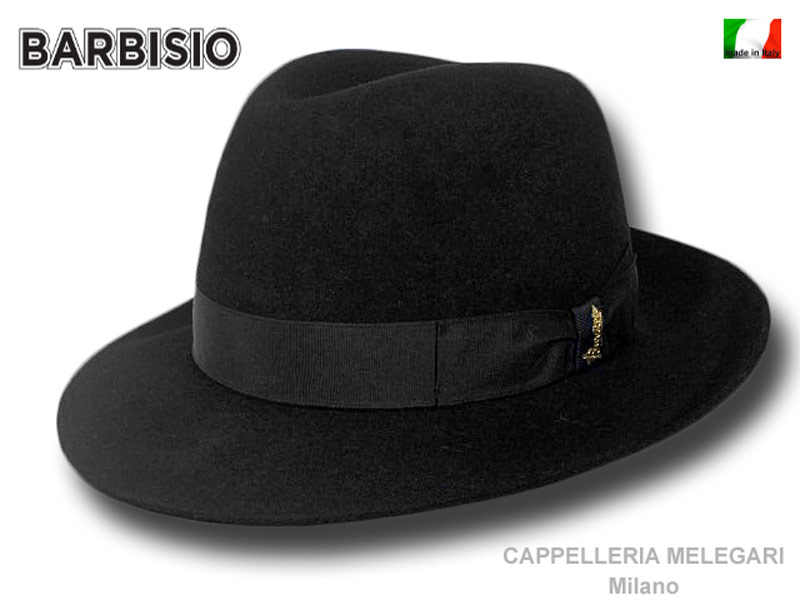 Barbisio Silver Fedora Hand made Hat