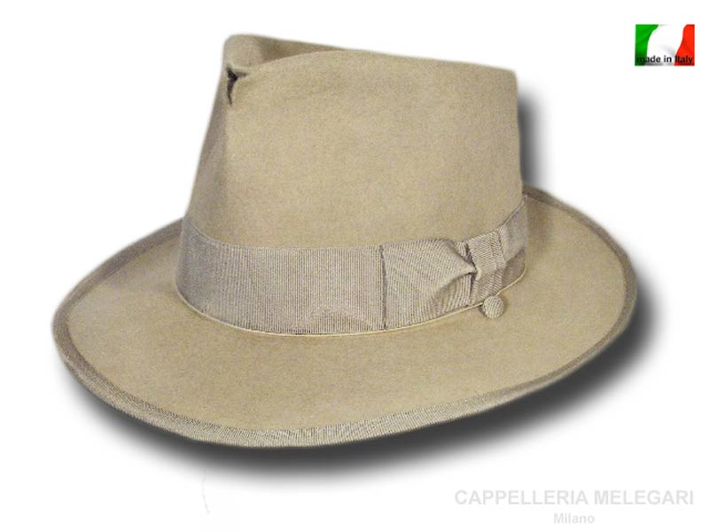 Cappello Fedora Johnny Depp Top Quality anticato Beige