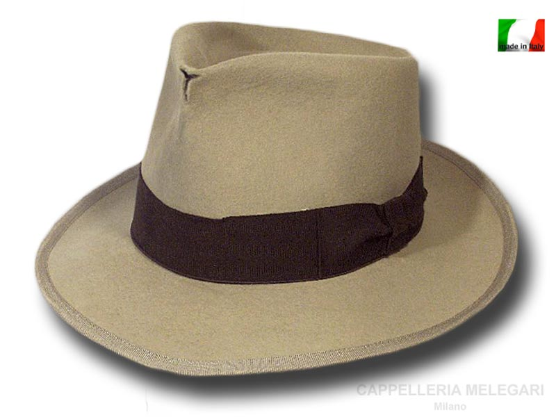 Fedora Johnny Depp Hut Top Qualität antiqued Beige