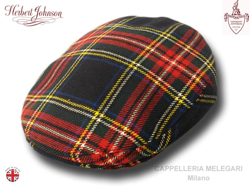 Herbert Johnson London tweed cap Black Stewart