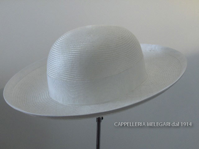 Natural White Straw Saturn priest hat hand mad