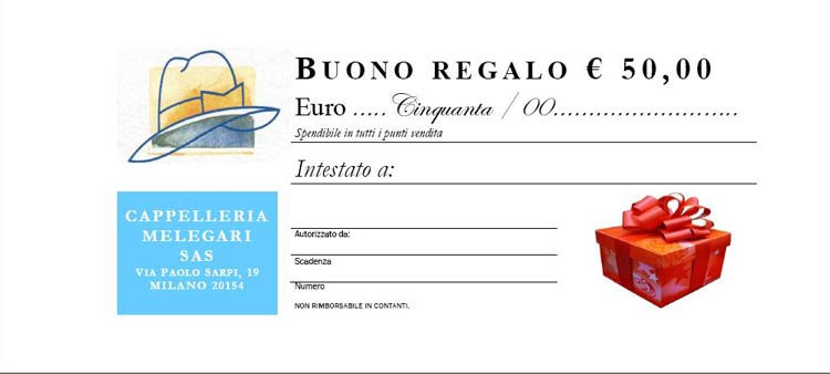 Gift Certificate Euro 50,00