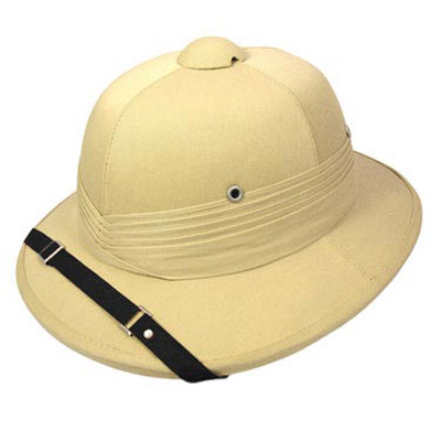 Casco coloniale indiano safari Indian Pith Helmet