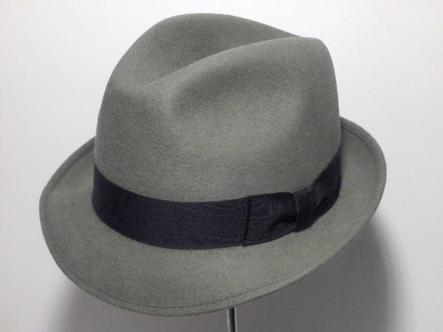 Chapeau Melegari Trilby Blues Brothers Gris