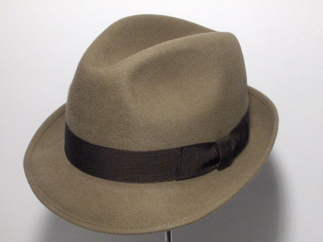 Melegari Trilby Blues Brothers hat Light brown