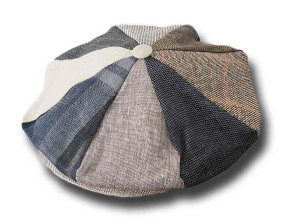 Gatsby patchwork linen Cap 8 pieces Hanna Hats