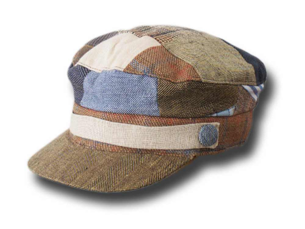 Hanna Hats Irish Skipper Patchwork Leinen Müt