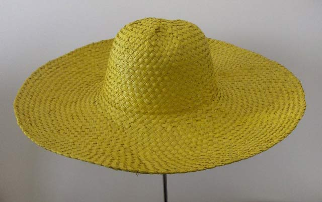Colorful Palm straw woman Taormina hat  large
