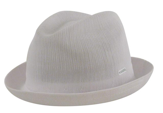 Kangol Cappello Trilby tropic player bianco