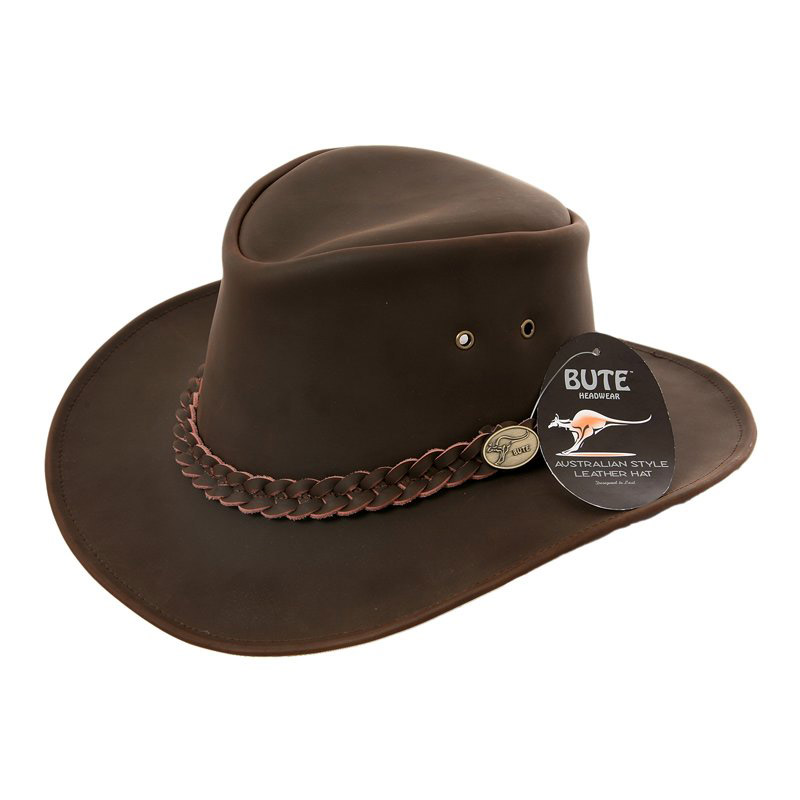 Hawkins Aussie Victoria Desert leather hat Bro