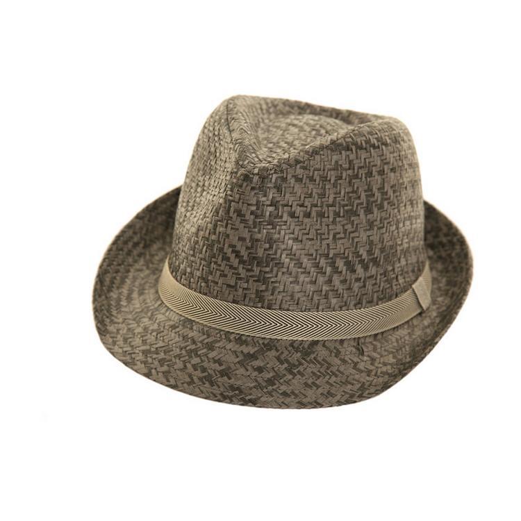 Straw Trilby hat by Hawkins 01 fc0fac4b3d52