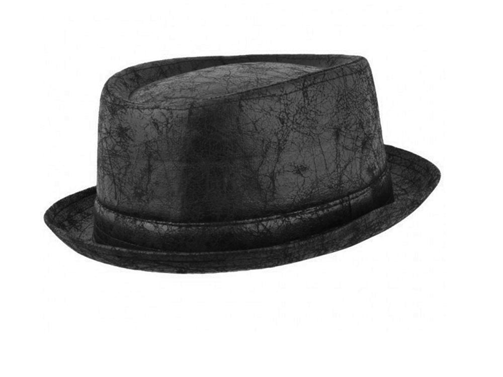 Chapeau de Jazz Pork Pie eco cuir