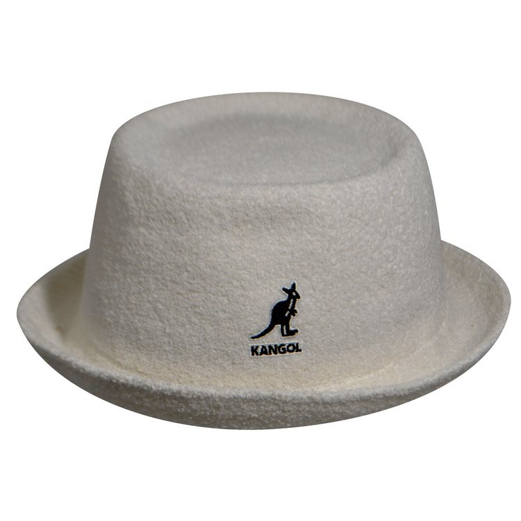 Kangol Mowbray Bermuda porkpie hat White