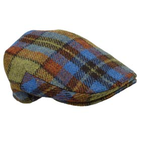 John Hanly Karierte Flatcap aus Irish wolle