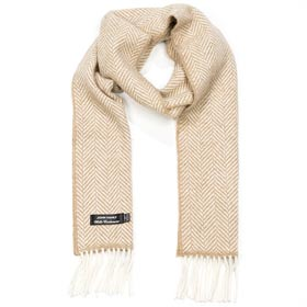 John Hanly Merino wool and cashmere scarf 02