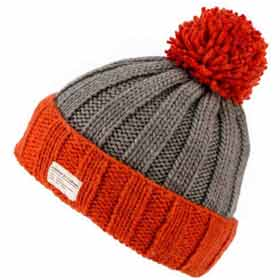 Kusan London turn up wool beanie with bobble