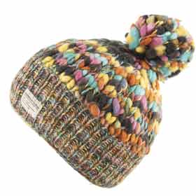 Kusan London Berretto lana multicolor Bobble L