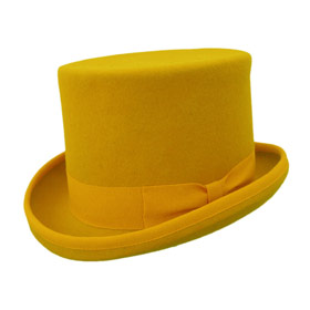 Melegari Wool Felt Top Hat Yellow