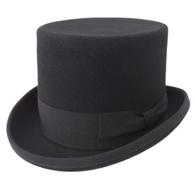 Melegari Wool Felt Top Hat black