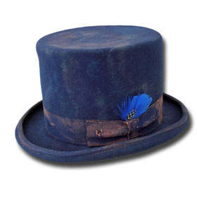 Cappello a cilindro Funky Aged Blu Royal