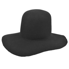 Pilgrim hat Melegari with free brim high crown