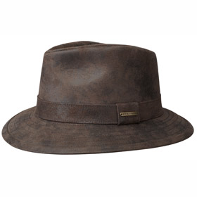 Stetson Atlanta Elkhart traveller leather hat