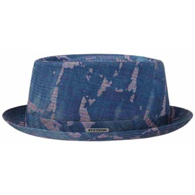 Stetson Cappello pork pie cotone Stripes